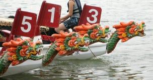 Het Ras van de Boot van de draak stock afbeelding