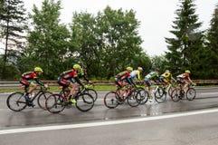 Het ras van de cyclus stock fotografie