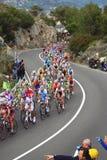 Het Ras van de Cyclus Milaan-Sanremo stock afbeeldingen