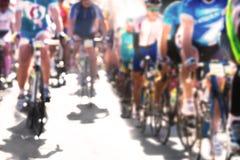 Het ras van de cyclus Vaag beeld Royalty-vrije Stock Foto