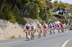 Het ras van de cyclus van Milaan aan San Remo Stock Foto's