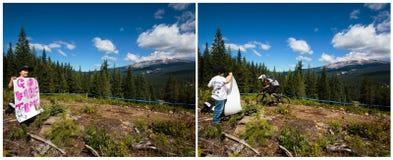 Het Ras van de de Bergfiets van Oregon Enduro Stock Foto's