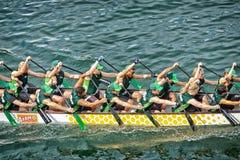 Het ras van de draakboot in Sydney royalty-vrije stock afbeeldingen