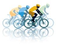 Het ras van de fiets stock illustratie