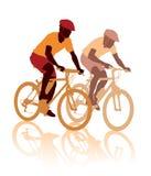 Het ras van de fiets royalty-vrije illustratie