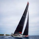 Het ras van de het zeilboot van Maxi Yacht Rolex Cup 2015 in Porto Cervo, Italië royalty-vrije stock afbeeldingen