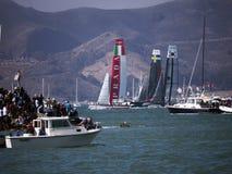 Het ras van de Kop van Amerika in de Baai van San Francisco Stock Afbeelding