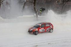 Het ras van de winter Stock Foto