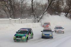 Het ras van de winter Royalty-vrije Stock Foto