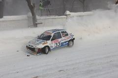 Het ras van de winter Stock Fotografie