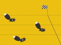 Het ras van eekhoorns stock illustratie