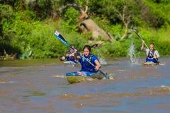Het Ras van Kim Kime Winner Dusi Canoe royalty-vrije stock afbeeldingen