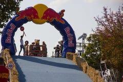 Het Ras van Red Bull Soapbox Stock Foto's
