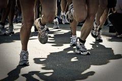 Het ras van Runnig stock foto's