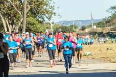 Het Rasactie van de damesmarathon Royalty-vrije Stock Fotografie