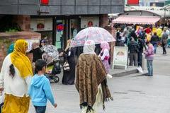 Het rassen mengen zich in Britse steden royalty-vrije stock foto