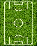 Het realistische Geweven Gebied van het Grasvoetbal Royalty-vrije Stock Foto's