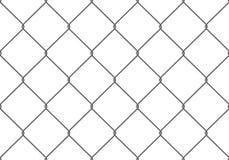 Het realistische patroon van OmheiningsRabitz Naadloze verbinding van beschermend net Vectorrabitznet Robuuste, moderne chroom ge royalty-vrije illustratie