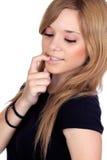 Het rebelse meisje van de tiener Stock Foto's