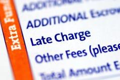 Het recente punt van de Last in een hypotheek paymen Stock Foto's