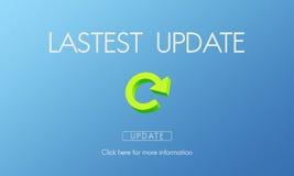 Het recentste Concept van de Toepassingsupdates van Versie Verse Updates royalty-vrije stock foto's