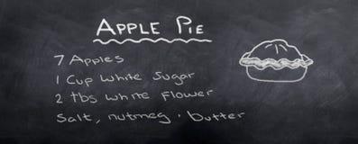 Het Recept van de appeltaart Stock Foto's