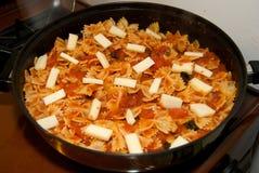 Het Recept van de Deegwaren van Bowtie Stock Fotografie