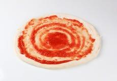 Het recept van de pizza Royalty-vrije Stock Foto's