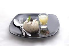 Het Recept van Gai van de Khaomens De Thaise stijl van het straatvoedsel Royalty-vrije Stock Foto's