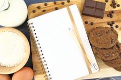 Het recept van koekjes Stock Afbeeldingen
