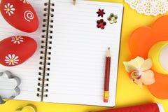 Het receptenboek van Pasen Stock Foto's
