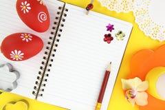 Het receptenboek van Pasen Royalty-vrije Stock Afbeeldingen