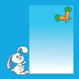Het receptennota van het konijntje met wortelen Stock Afbeelding