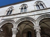 Het rectorenpaleis in Dubrovnik in Kroatië Stock Afbeeldingen