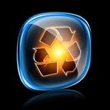 Het recyclerende neon van het symboolpictogram. Royalty-vrije Illustratie