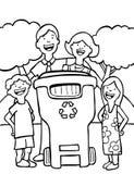 Het Recycling van de familie Royalty-vrije Stock Afbeeldingen