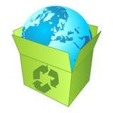 Het recycling van de planeet Royalty-vrije Stock Afbeeldingen