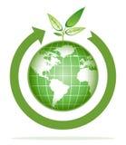 Het recycling van de wereld stock illustratie