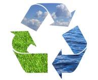 Het recycling van symbool royalty-vrije stock afbeeldingen