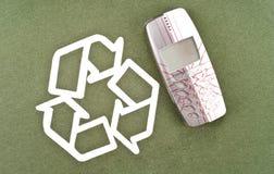 Het recycling van Uw Oude Telefoon stock foto