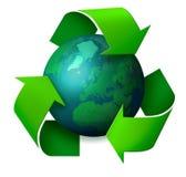 Het recyclingsconcept van de aarde Stock Afbeeldingen