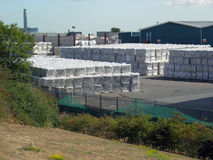 Het recyclingsinstallatie van het afval Stock Fotografie