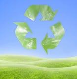 Het recyclingssymbool van de ecologie vector illustratie