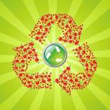 Het recyling symbool van de appel Royalty-vrije Illustratie