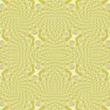 Het regelmatige ingewikkelde gele roze viooltje van spiralenornamenten Stock Foto