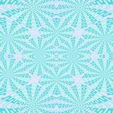 Het regelmatige ingewikkelde turkoois van het vierkantenpatroon, groen en lilac pastelkleur Royalty-vrije Stock Fotografie