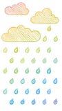 Het regenen vector illustratie