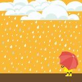Het regenen Stock Foto