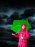 Het regent Stock Foto's