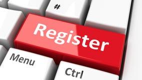 Het register van het computertoetsenbord Royalty-vrije Stock Afbeelding